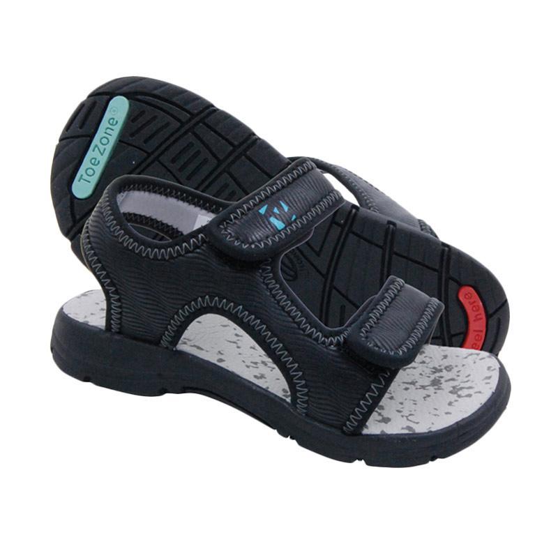 ToeZone Kids Havana Ch Sepatu Sandal Anak Laki-Laki - Black Grey