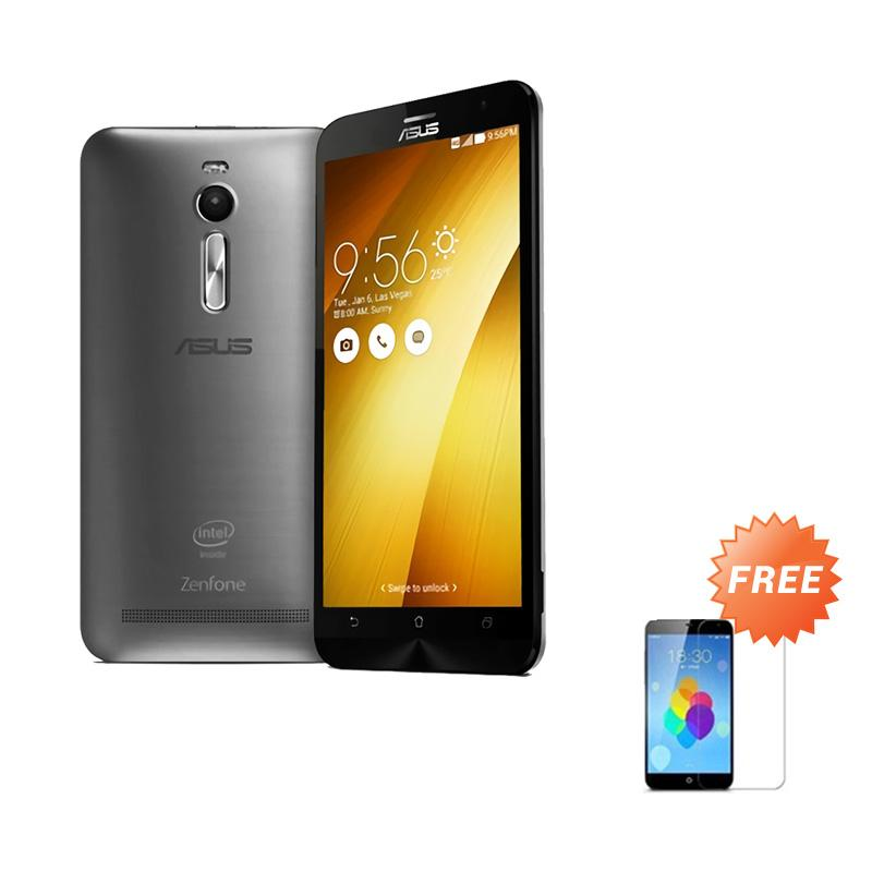 Ultrathin Aircase Casing for Zenfone 2 ZE551ML - Black Clear + Free Tempered Glass