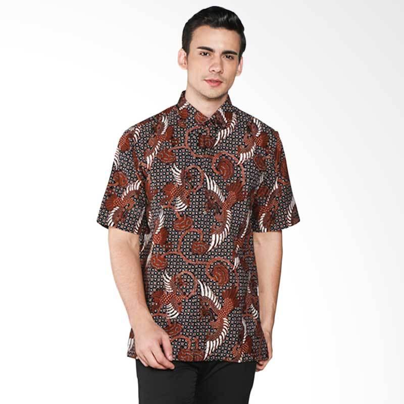Batik Pria Tampan Kuntul Rino PKMPD-04081668C Men Shirt - Teak