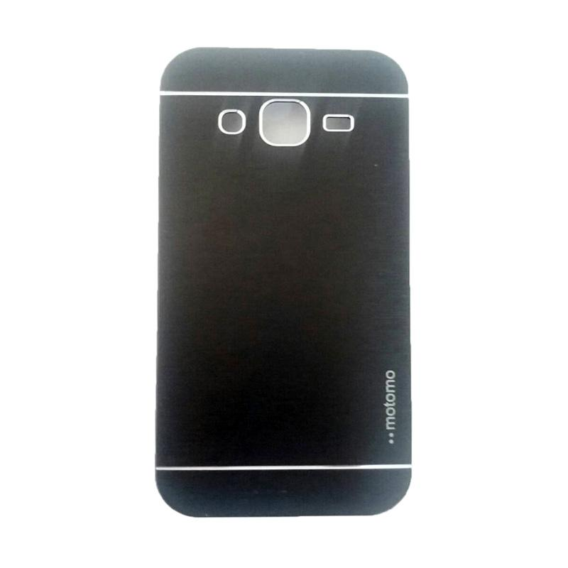 Motomo Metal Hardcase Backcase Casing for Samsung Galaxy J2 J200F - Black