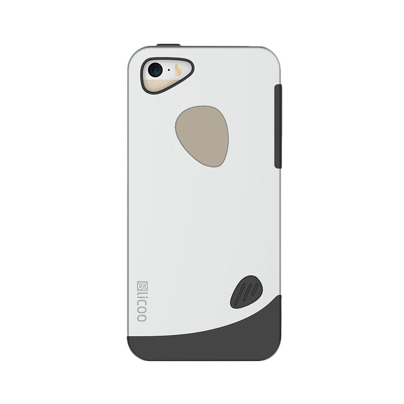 KIM Slicoo Frosted Side Hardcase Casing for Apple iPhone 5 or 5S - Silver