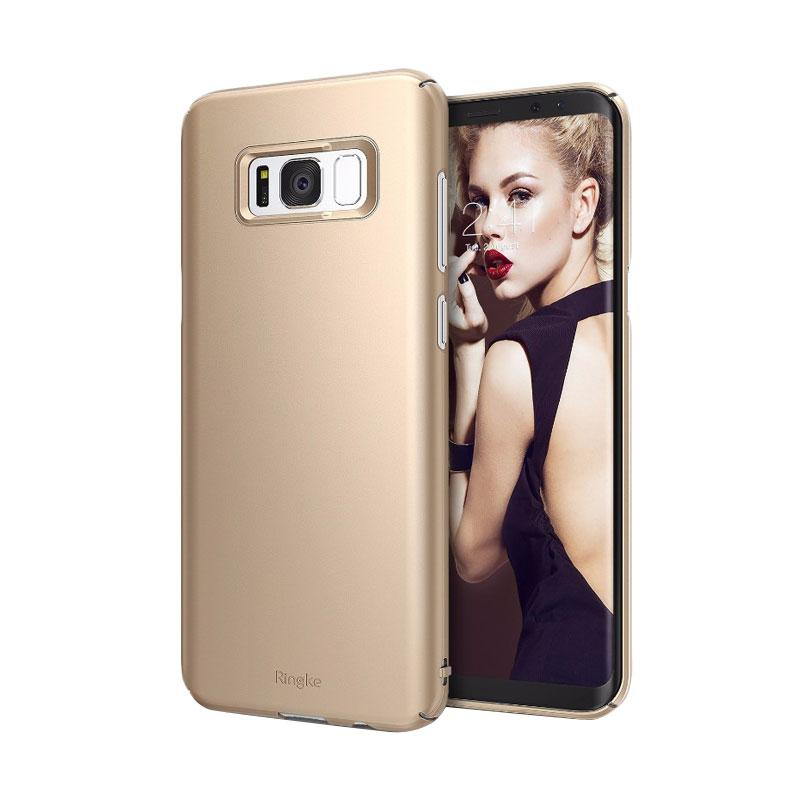 Rearth Ringke Slim Casing for Samsung Galaxy S8 5.8 Inch - Royal Gold