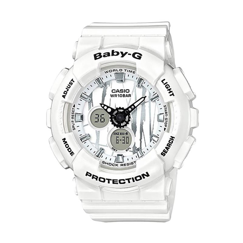CASIO – CASIO Baby-G BGA-120SP-7A Scratch Pattern Sports Jam Tangan Wanita – White