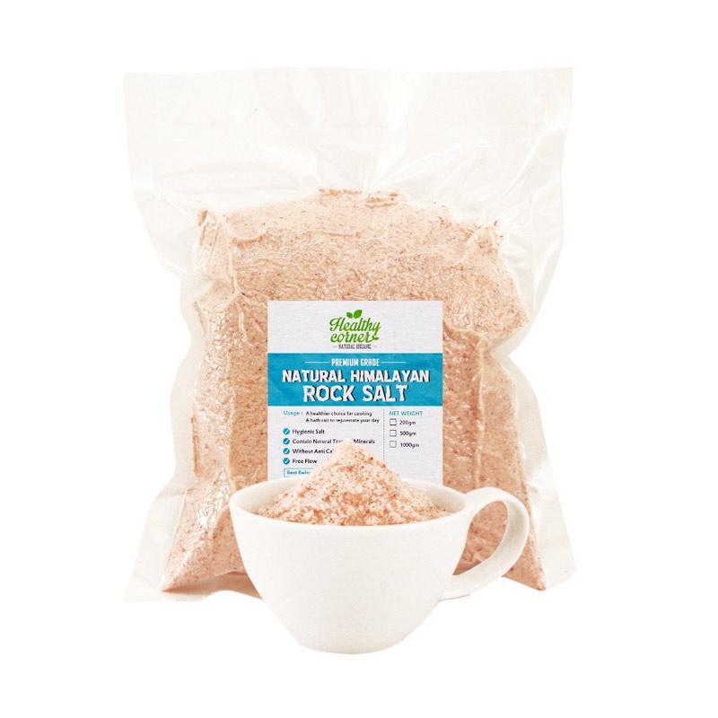 Healthycornersby Natural Pink Himalayan Salt Garam [1 kg]