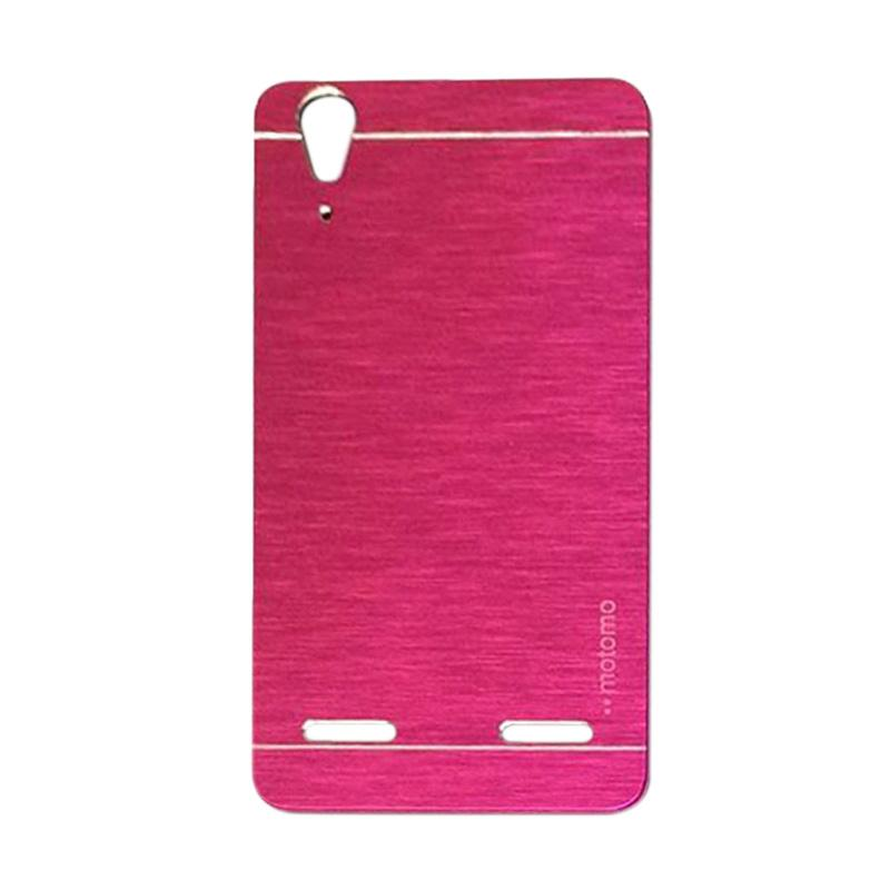 Motomo Metal Hardcase Backcase Casing for Lenovo A6010 or A6010 Plus - Pink