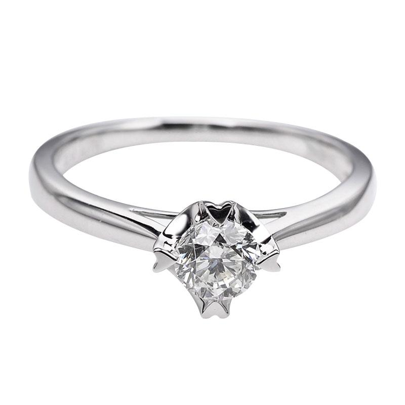 Tiaria DHTXDFJ005 Cincin Berlian emas putih [18K]