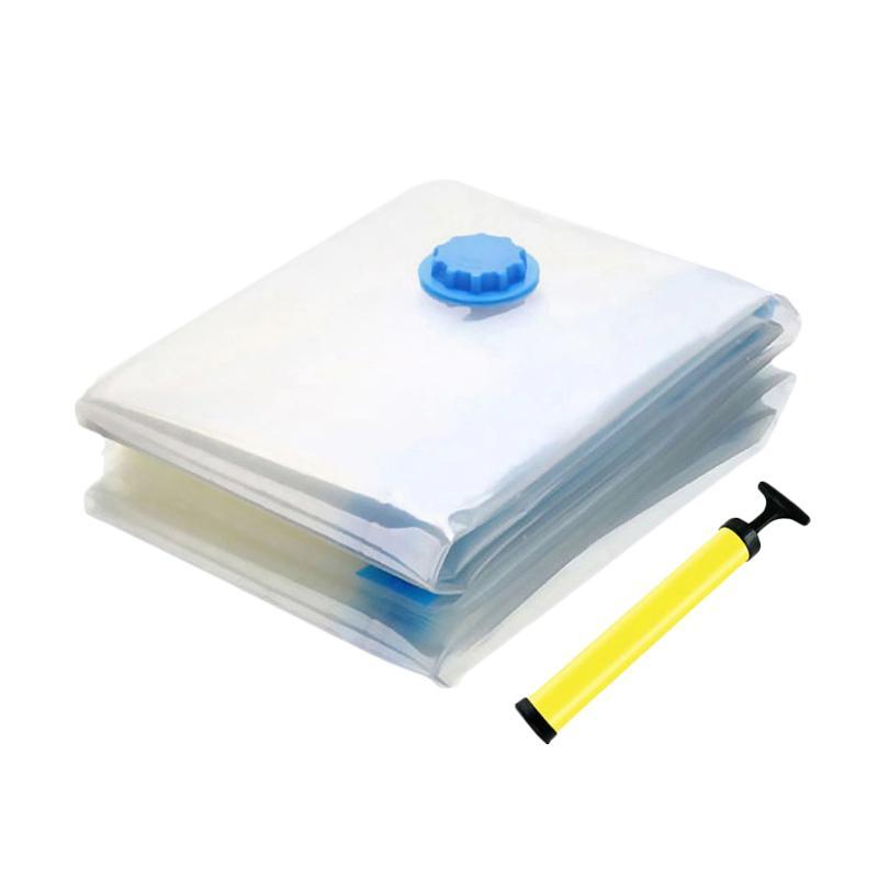 Lebih Hemat Vakum / Vacuum Bag Tempat Penyimpanan Praktis 8 Pcs Free Pompa Manual