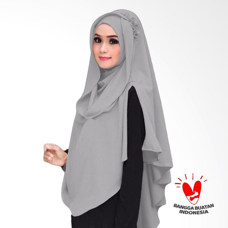 harga Milyarda Hijab Khimar Al Zaina Kerudung Jilbab Instan Syar'i - Abu abu Blibli.com