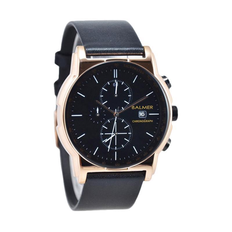 Balmer Chronograph D46H580BL7931MHTMRG Date Leather Strap Jam Tangan Pria