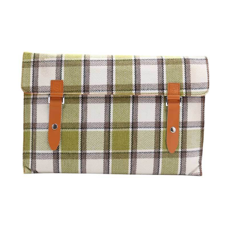 Cooltech Tas Laptop Tweed Flanel Softcase Sleeve Case for Macbook 11.6 Inch - Hijau