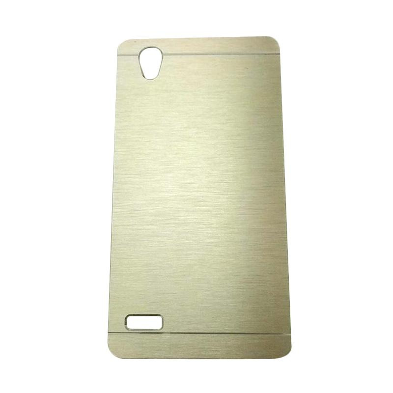 Motomo Metal Hardcase Backcase Casing for Oppo Mirror 5 or A51T - Gold