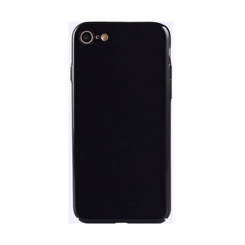 Royal Online Shop Ultra Thin Slim Hardback Casing for iPhone 7 - Glossy Jetblack