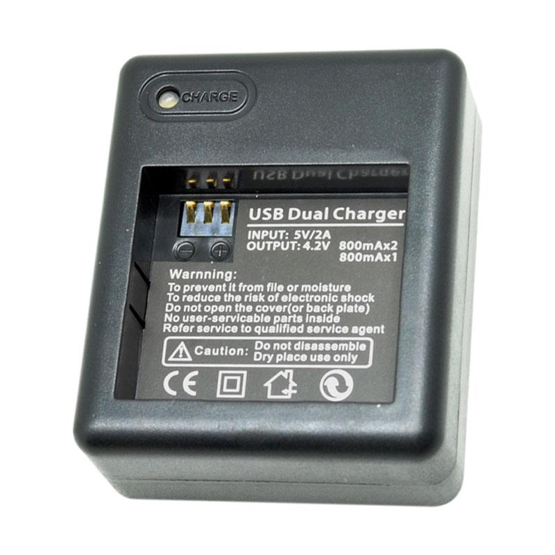 Dual Battery Charger for Xiaomi Yi Battery - Black