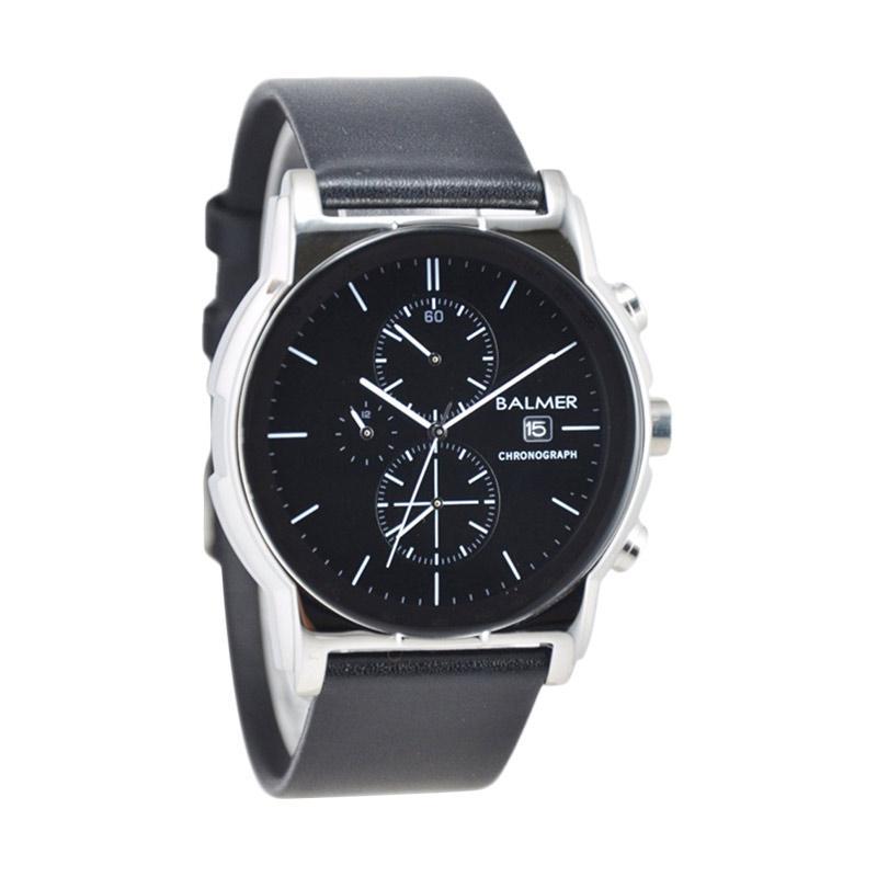 Balmer Chronograph D46H530BL7931MHTMLS Date Leather Strap Jam Tangan Pria
