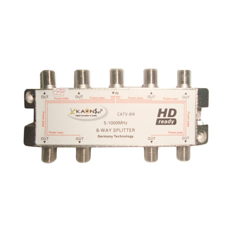 Kaonsat CATV-8W Splitter 8 Way untuk TV Kabel [Frekuensi 5-1000 MHz]