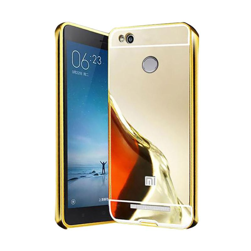 Bumper Mirror Sliding Casing for Xiaomi Redmi Pro 5.5 Inch - Gold