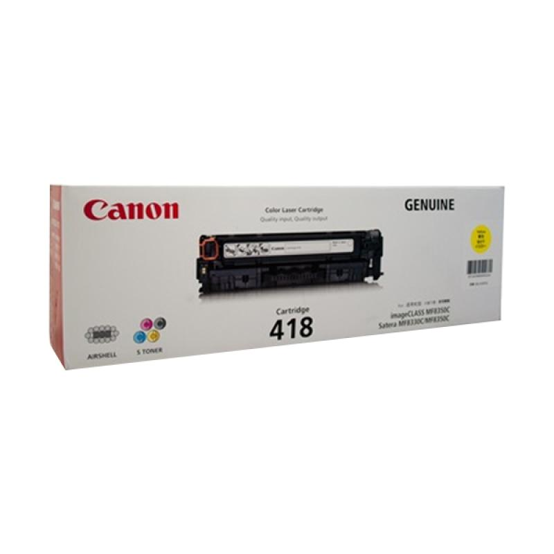 Canon 418 Original Toner for Mesin Fotocopy ICMF 8350c/8380Cdw/8580Cdw - Yellow