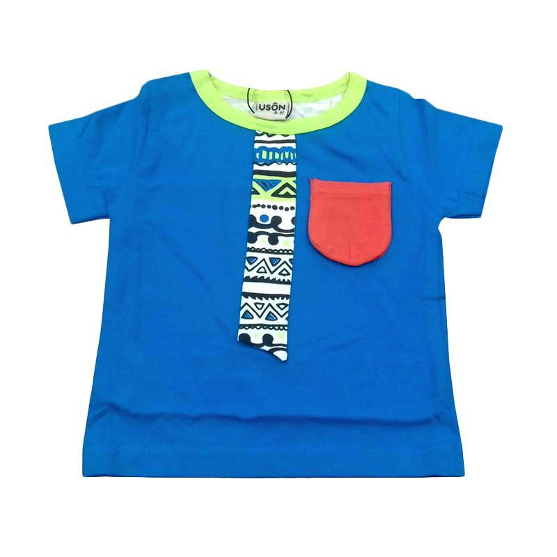 Chloe Babyshop Tshirt Baby Pocket Glasses Atasan Anak - Blue