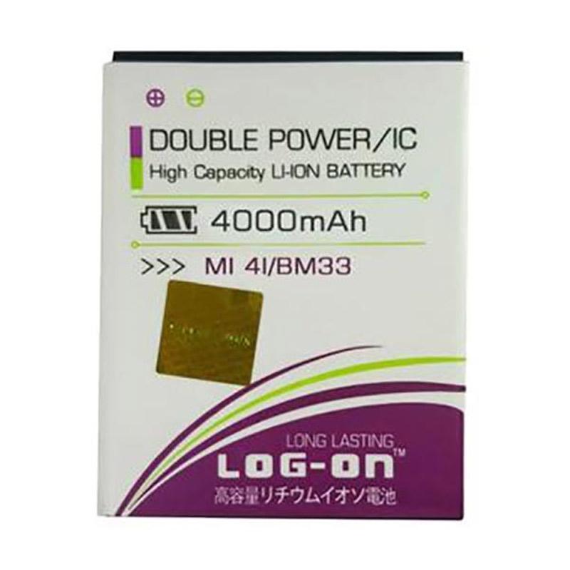 harga Log On Double Power and IC Battery for Xiaomi Mi4i [4000 mAh/Garansi