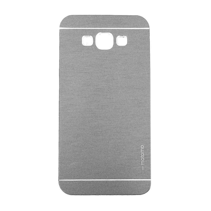 Motomo Metal Hardcase Casing for Samsung Galaxy J5 or J500F - Silver