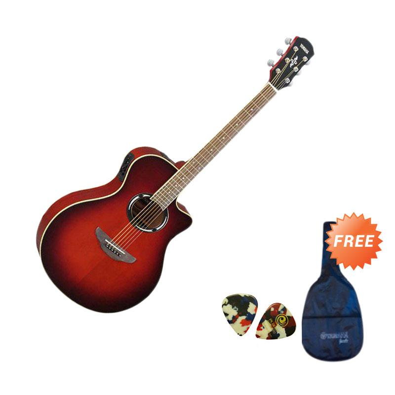 harga Yamaha CPX 500II Gitar Akustik Elektrik - Dark Red Burst + Free Softcase & 2 Pick Blibli.com