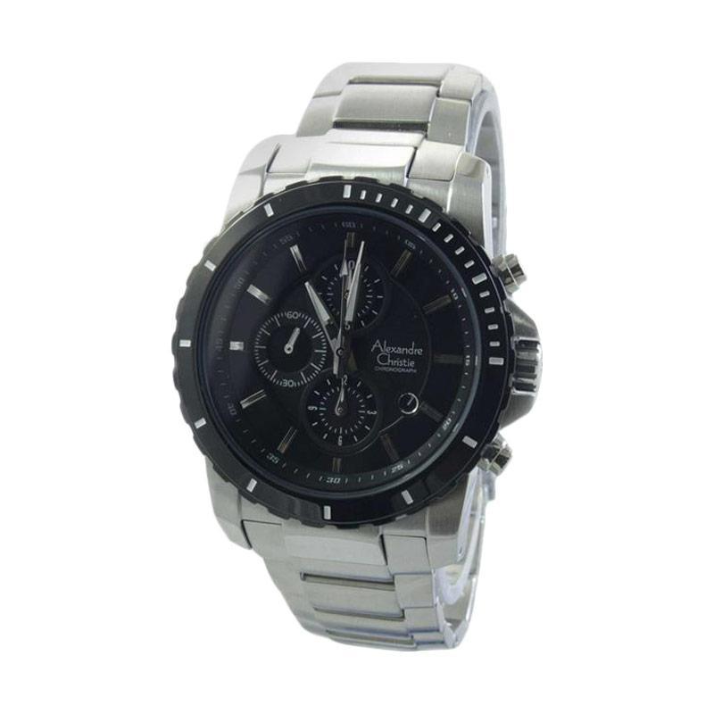 harga Alexandre Christie 6141 MCBTBBA Jam Tangan Pria - Silver Black Blibli.com