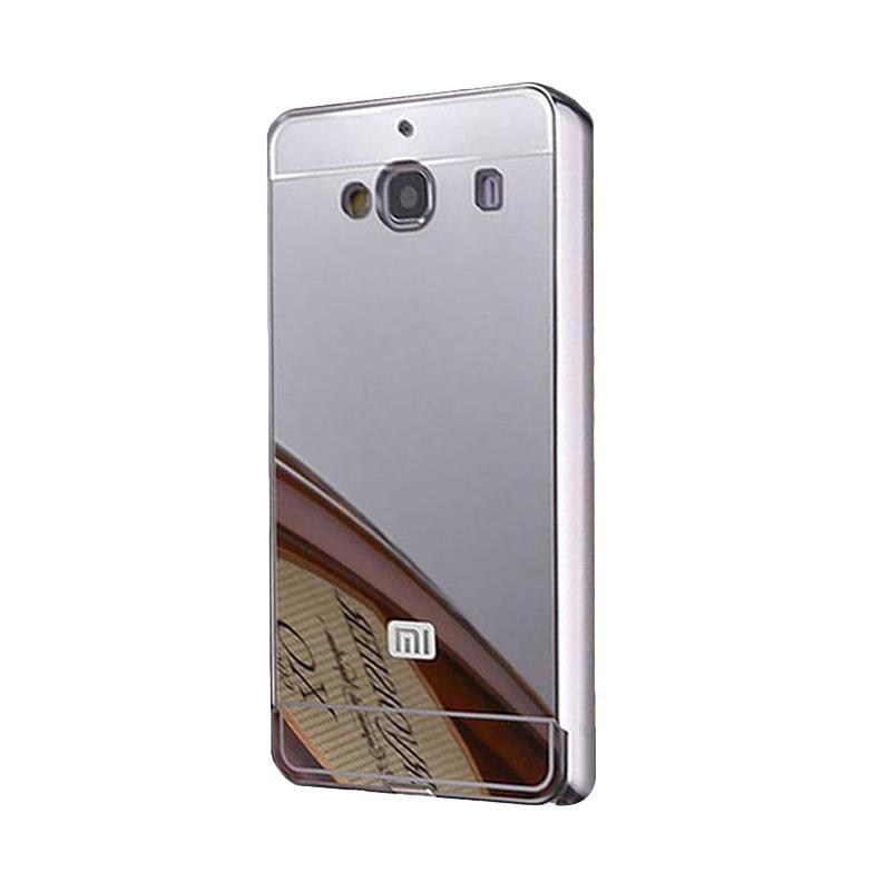Bumper Case Mirror Sliding Casing for Xiaomi Redmi 2S - Silver