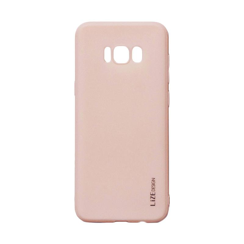 Lize Candy Case Style Softshell Softcase Casing for Samsung Galaxy S8 Plus - Peach