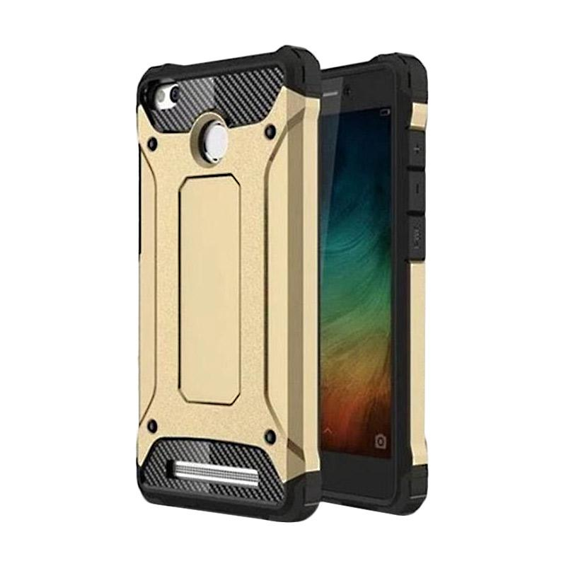 OEM Transformers Iron Robot Hardcase Casing for Xiaomi Redmi 3S - Gold