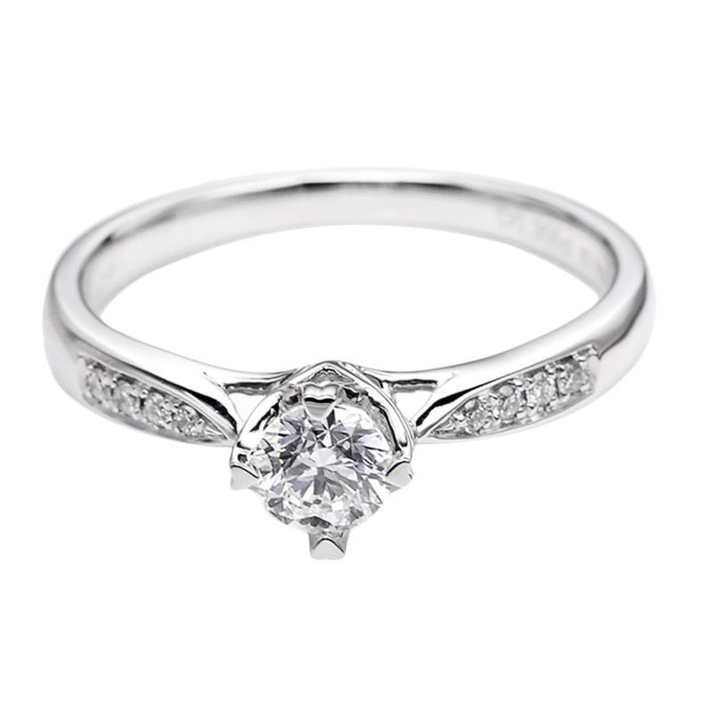 Tiaria DHTXDFJ044 Perhiasan Cincin Emas Putih dan Berlian White Gold [18K]
