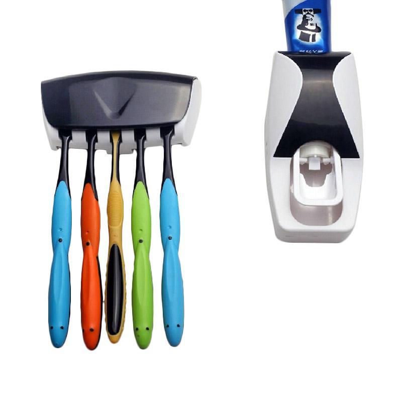 TokoKadoUnik Set Toothpaste Dispenser Odol - Black