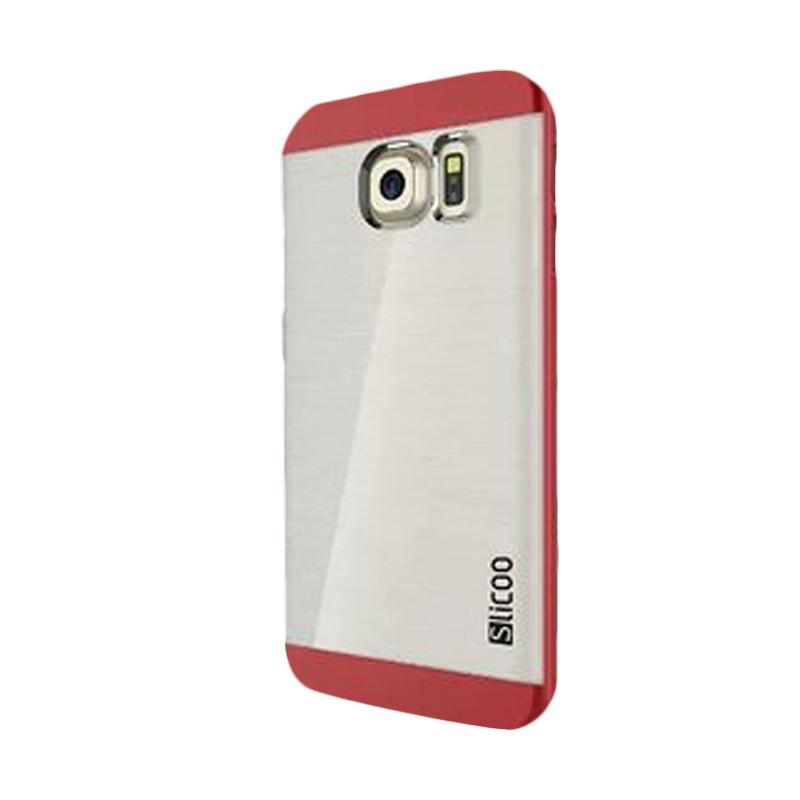 Slicoo Clear Back Cover Hardcase Casing for Samsung Galaxy S6 Edge - Red