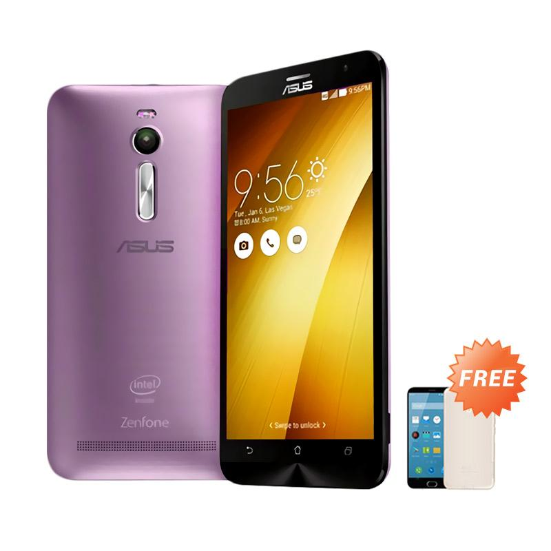 Ultrathin Aircase Casing for Zenfone 2 ZE551ML - Purple Clear + Free Ultra Thin