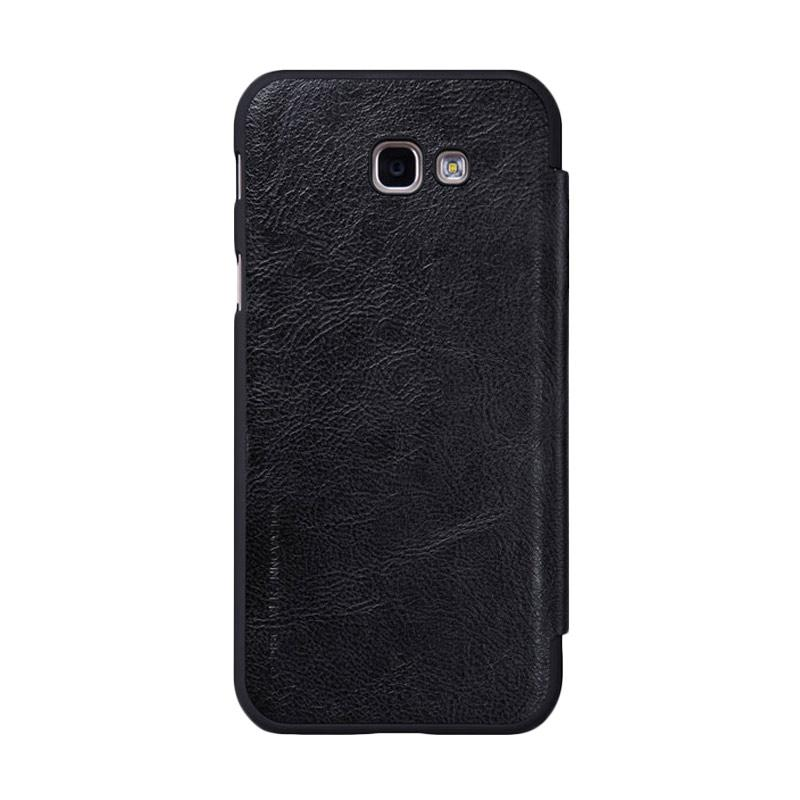 Nillkin Qin Leather Flip Cover Casing for Samsung Galaxy A7 2017 - Black
