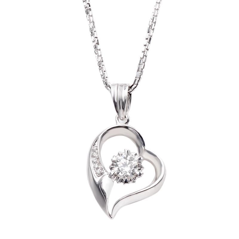 Tiaria DAKADZ003 Perhiasan Liontin Emas Putih dan Berlian - White Gold [18K]
