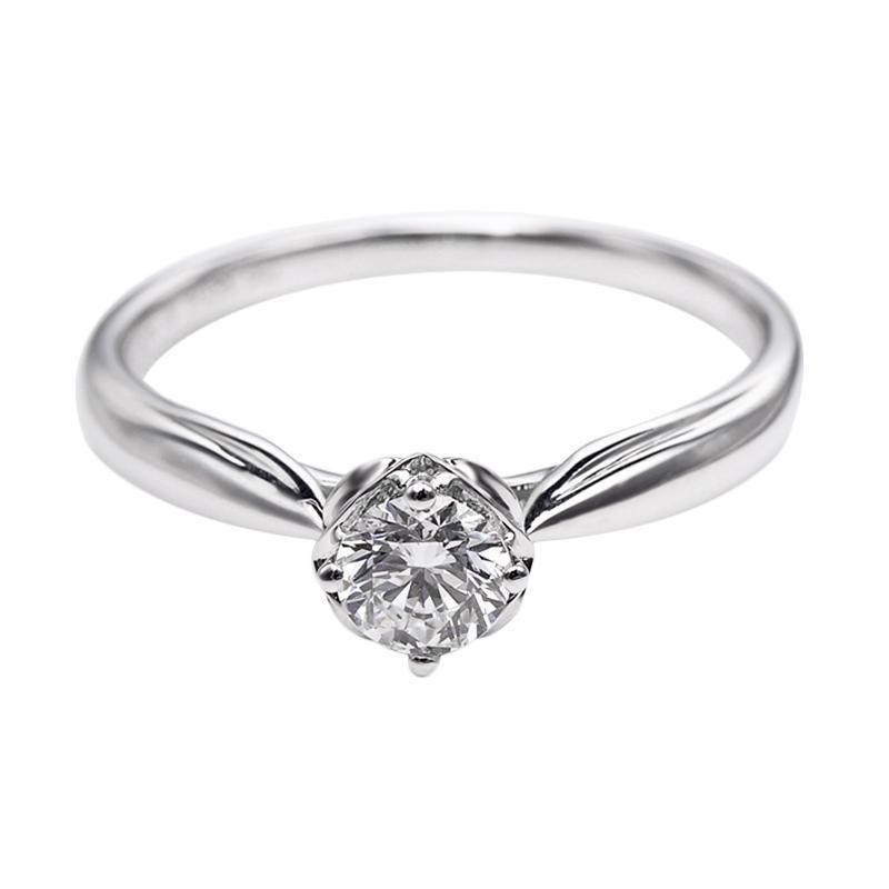 Tiaria DHTXDFJ046 Perhiasan Cincin Emas Putih dan Berlian White Gold [18K]