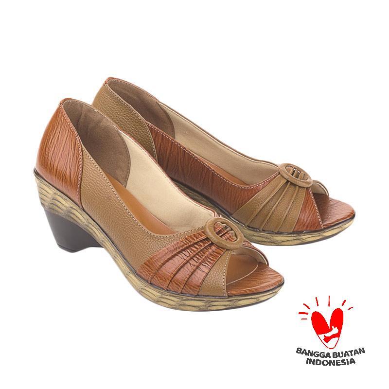 Blackkelly  LDX 838 FOLSENINE Sepatu Formal Mid Low Heels Wanita