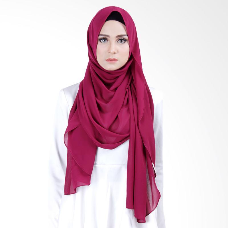 Cantik Kerudung Scarlett Slip In Instant Hijab - Magenta