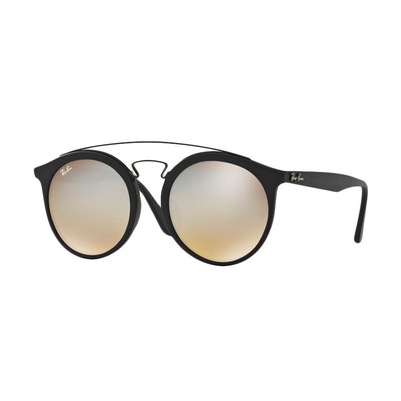 Ray-Ban Rb4256F Mirror Gradient Grey 6253B8 Sunglasses - Matte Black [Size 52]