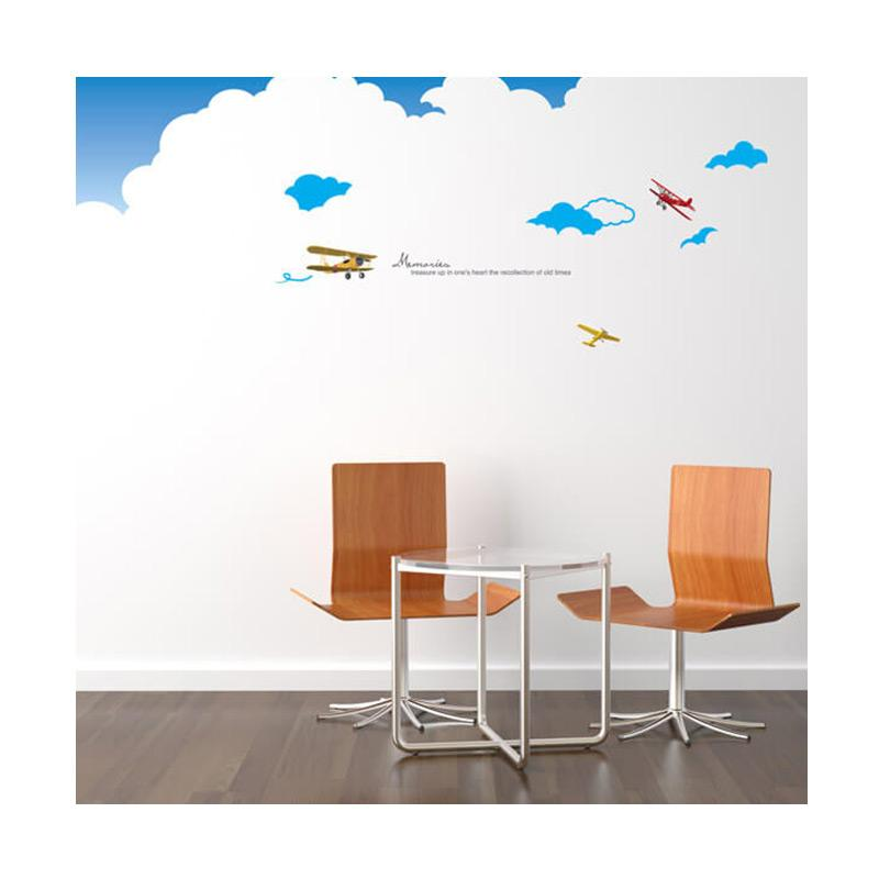 Rekomendasi Seller - Hyundae Fixpix PS 60054 Flight Memories Wall Sticker [50x70 cm]