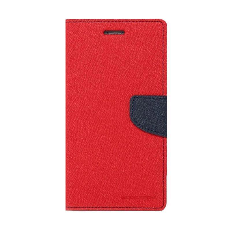 Mercury Fancy Diary Casing for SONY Xperia Z5 Compact E5803 - Merah Biru Laut