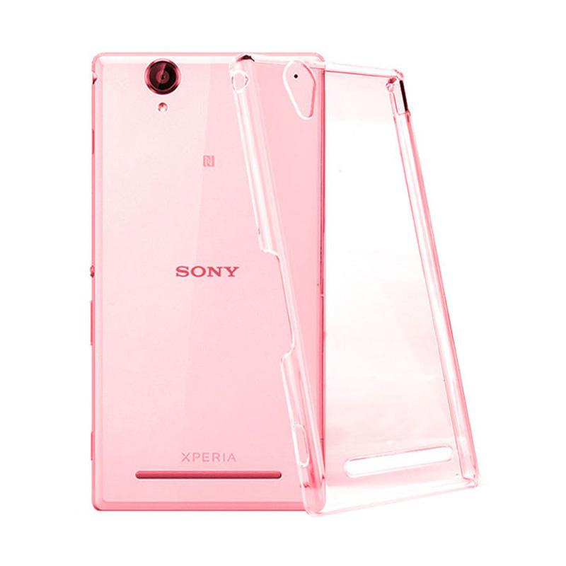 OEM Ultrathin Jelly Softcase Casing for Sony Xperia T2 Ultra - Pink