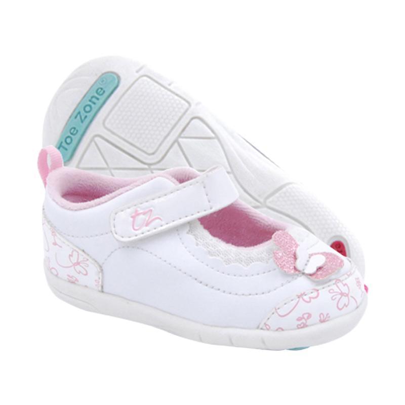 Toezone Kids Tracey Fs Sepatu Anak Perempuan - White Pink