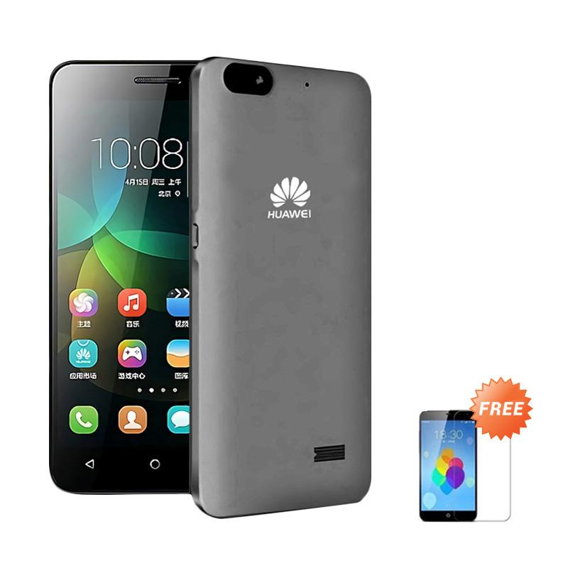 Ultrathin Casing for Huawei Honor 4c - Grey Clear + Free Tempered Glass