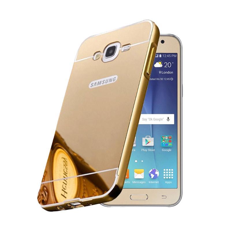 Bumper Case Mirror Sliding Casing for Samsung Galaxy ACE 4 - Gold