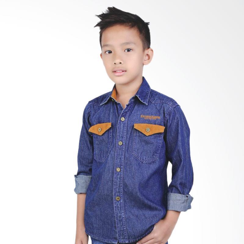Catenzo Junior Miguel CMT 036 Kemeja Denim Anak Laki-laki - Blue