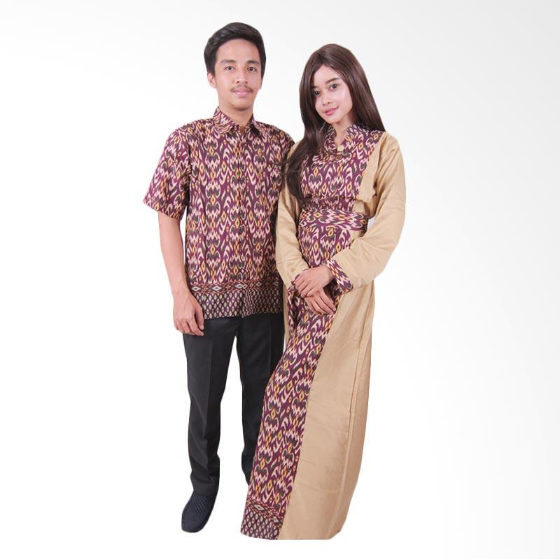 harga Batik Putri Ayu Solo Sarimbit Batik SRG108 Batik Couple - Cokelat Blibli.com
