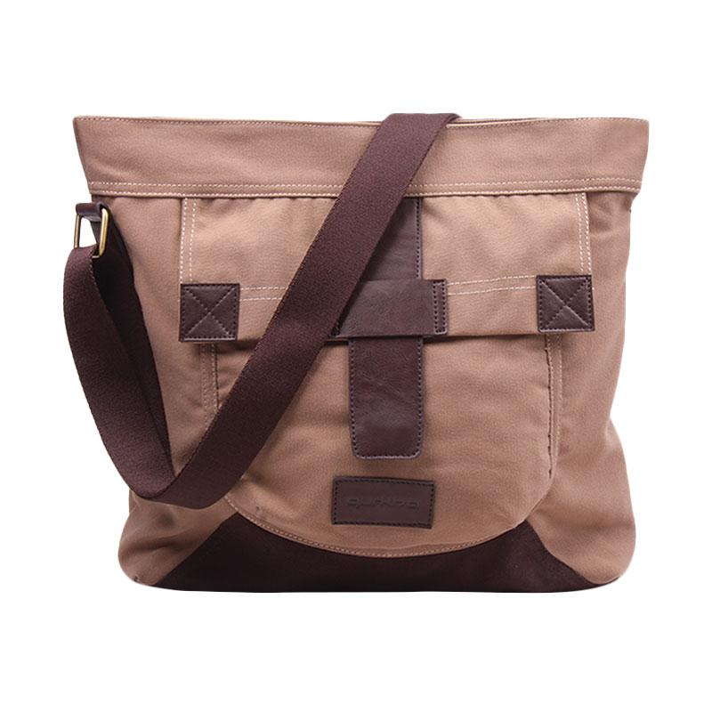 Gurkha BMR.22 Messenger Bag Gurkha Unisex Tas Selempang - Milk Brown
