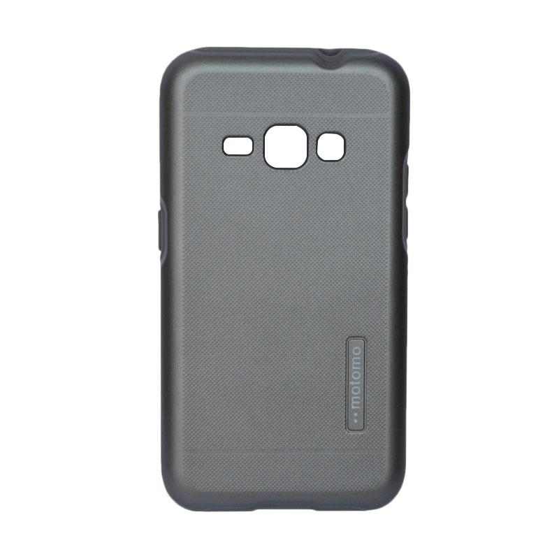 Motomo Hardcase 2 Tone Double Layers Casing for Samsung J1 2016 J120 - Grey