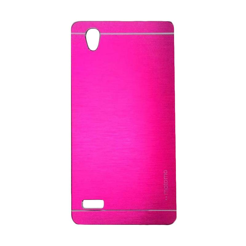 Motomo Metal Hardcase Backcase Casing for Oppo Mirror 5 or A51T - Pink